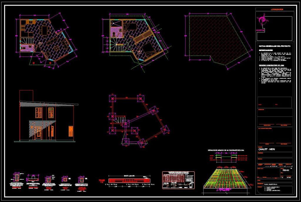 دانلود پروژه طراحی نقشه و پلان خانه آپارتمانی کوچک (1)