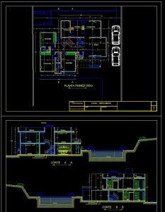 دانلود پروژه طراحی نقشه و پلان خانه اشرافی و لوکس