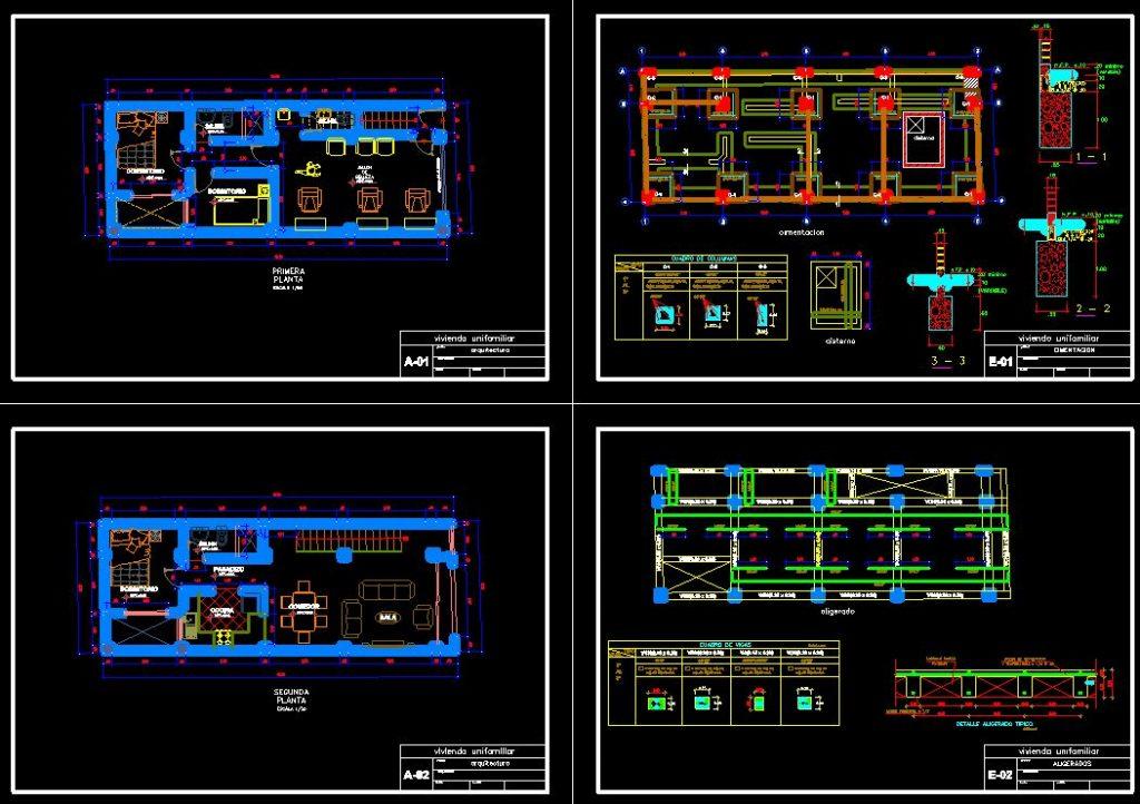 دانلود پروژه طراحی نقشه و پلان خانه مجردی + نقشه لوله و برق کشی