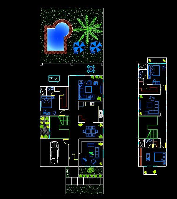 دانلود پروژه طراحی نقشه و پلان خانه ویلایی استخردار (13)