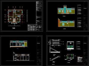 دانلود پروژه طراحی نقشه و پلان خانه ویلایی تراس دار (14)