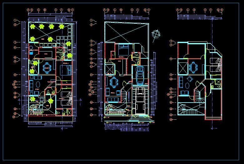 دانلود پروژه طراحی نقشه و پلان خانه ویلایی دو طبقه زیرزمین دار (12)