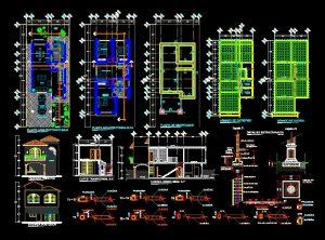 دانلود پروژه طراحی نقشه و پلان خانه ویلایی دو طبقه سه خوابه (17) + نقشه لوله و برق کشی