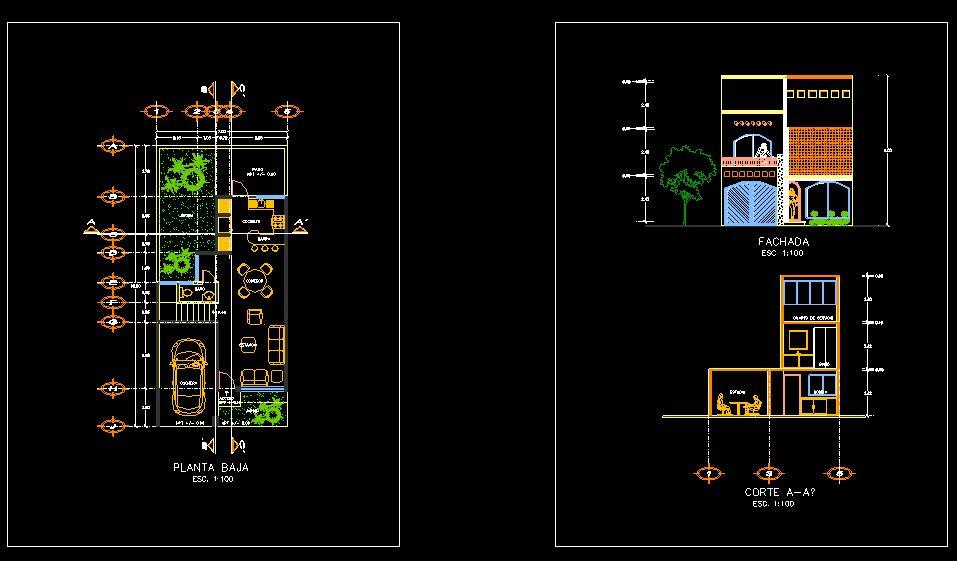 دانلود پروژه طراحی نقشه و پلان خانه ویلایی دو طبقه (13)