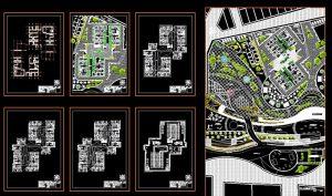 دانلود پروژه طراحی نقشه و پلان مجتمع مسکونی مدرن