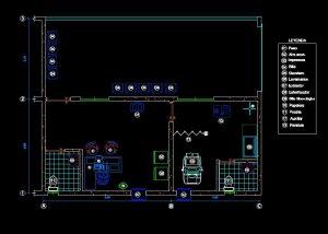 دانلود پروژه طراحی نقشه و پلان مطب
