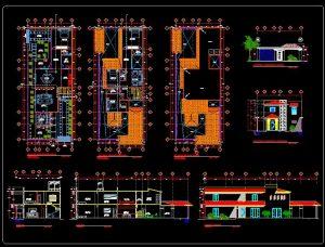 دانلود پروژه طراحی نقشه و پلان ویلا دو طبقه (13) + نقشه برق کشی