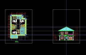 دانلود پروژه طراحی نقشه و پلان ویلا کوچک (11)