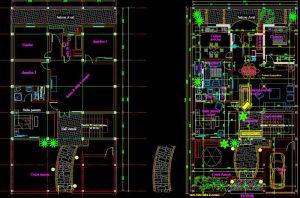 دانلود پروژه طراحی نقشه و پلان ویلا (12) + محوطه سازی