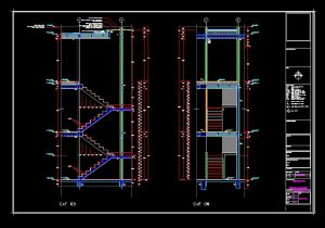 دانلود پروژه طراحی نقشه و پلان پله ساختمان