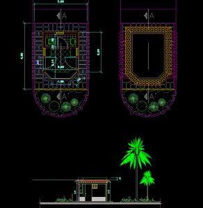 دانلود پروژه طراحی نقشه و پلان کلبه کوچک (2)