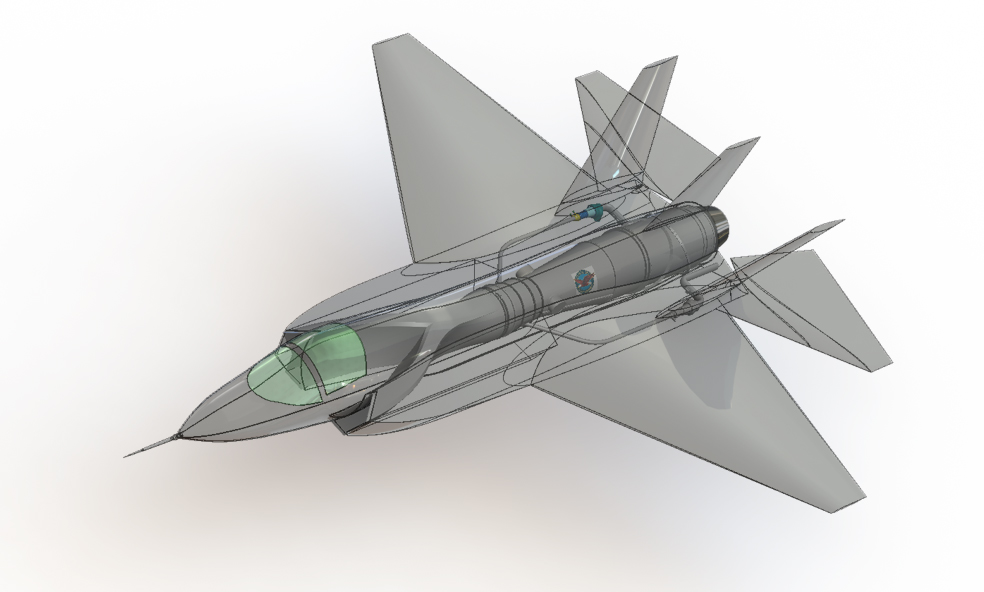 دانلود پروژه طراحی هواپیمای جنگنده اف F35 + توربین، EPU و APU (3)