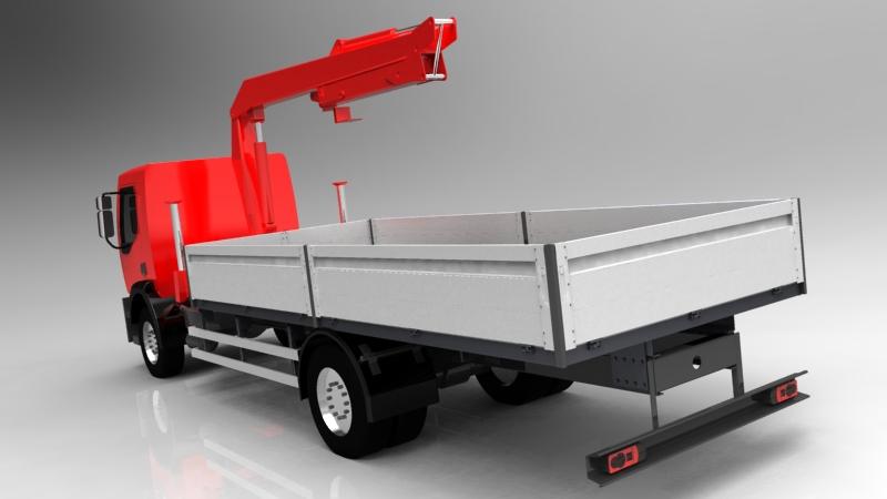 دانلود پروژه طراحی کامیون مدیوم رنو جرثقیل هیدرولیکی (2)