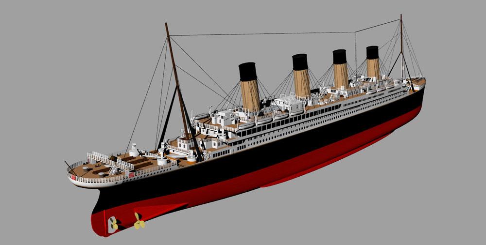 دانلود پروژه طراحی کشتی آراماس تایتانیک RMS Titanic (1)