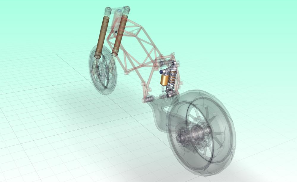 دانلود پروژه طراحی کمک فنر موتورسیکلت دوکاتی ducati 998 rear shock absorber (1)