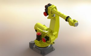 دانلود پروژه طراحی بازوی رباتیکی فانوک FANUC R2000iA165F
