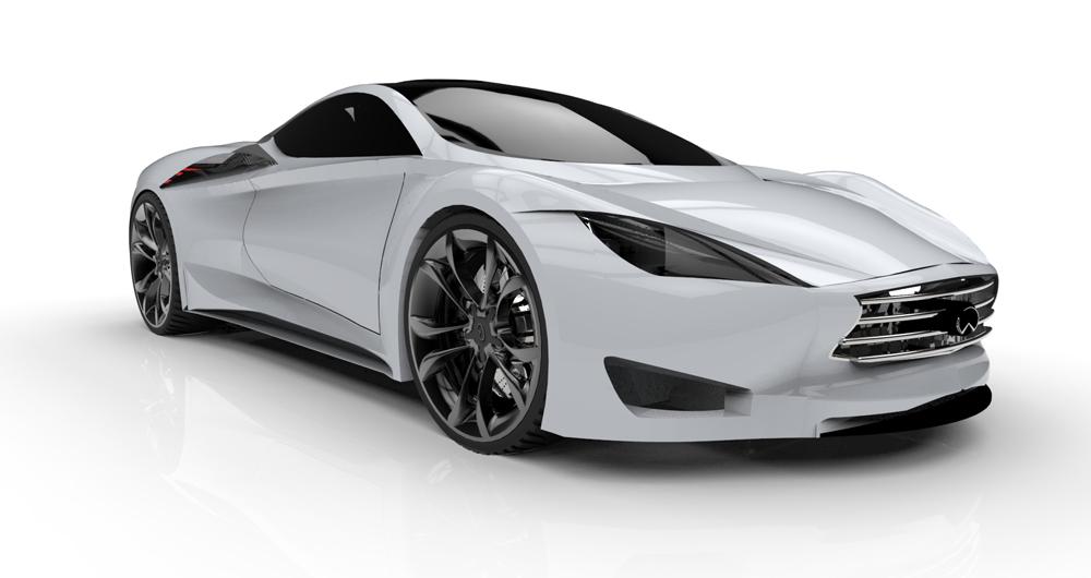 دانلود پروژه طراحی خودرو لوکس اینفینیتی امرج ای Infiniti Emerg-E (1)