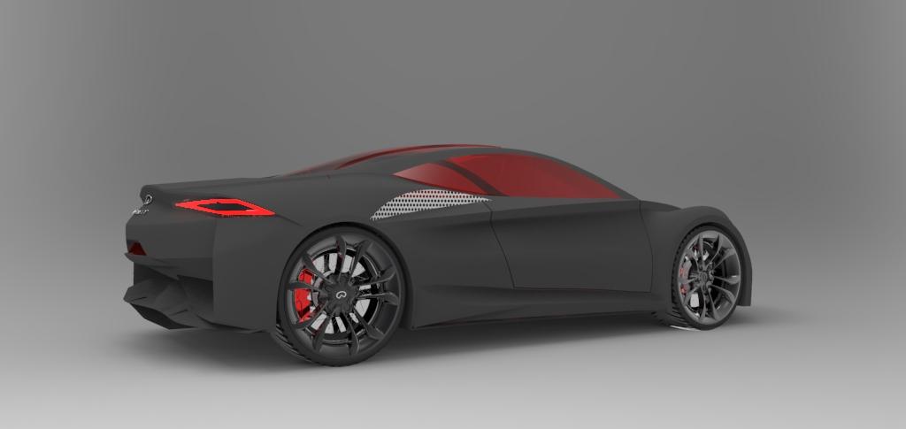 دانلود پروژه طراحی خودرو لوکس اینفینیتی امرج ای Infiniti Emerg-E (2)