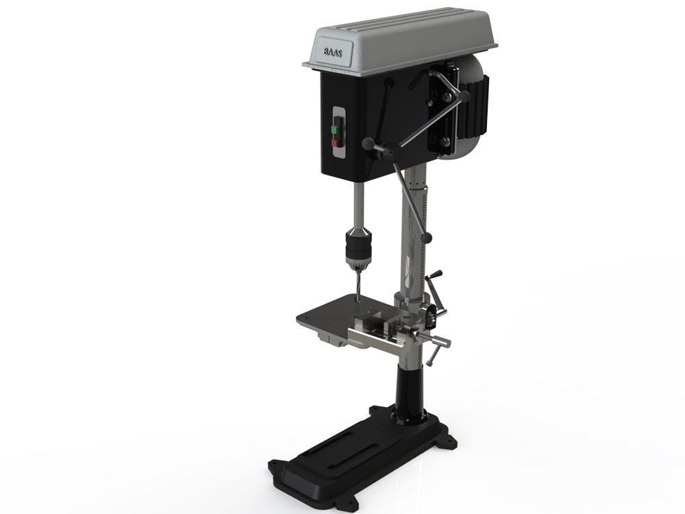 دانلود پروژه طراحی دریل ستونی عمودی upright drilling machine (1)