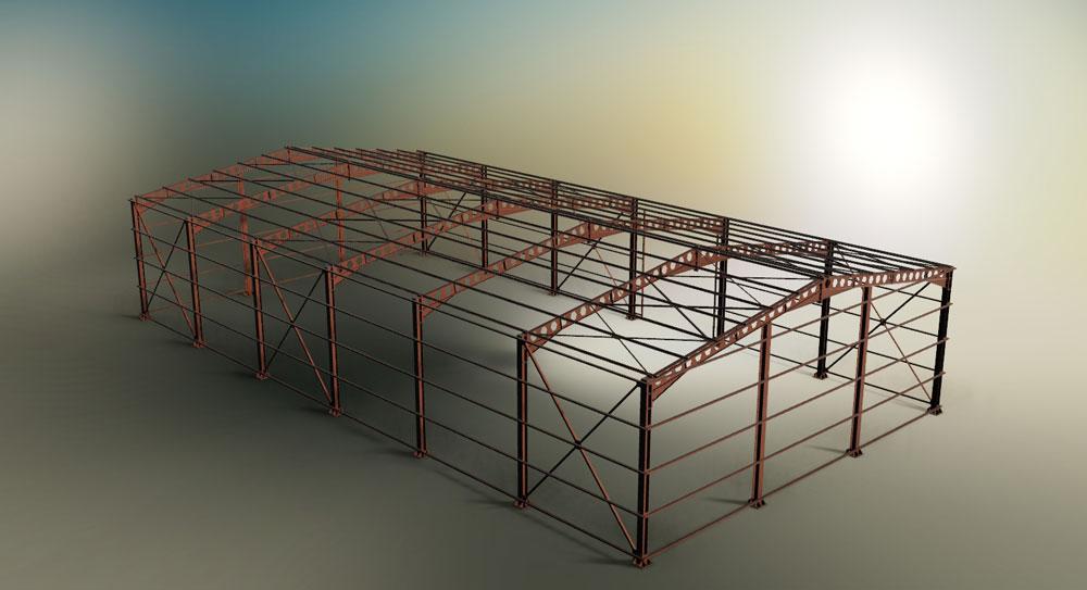 دانلود پروژه طراحی سازه سوله (1)