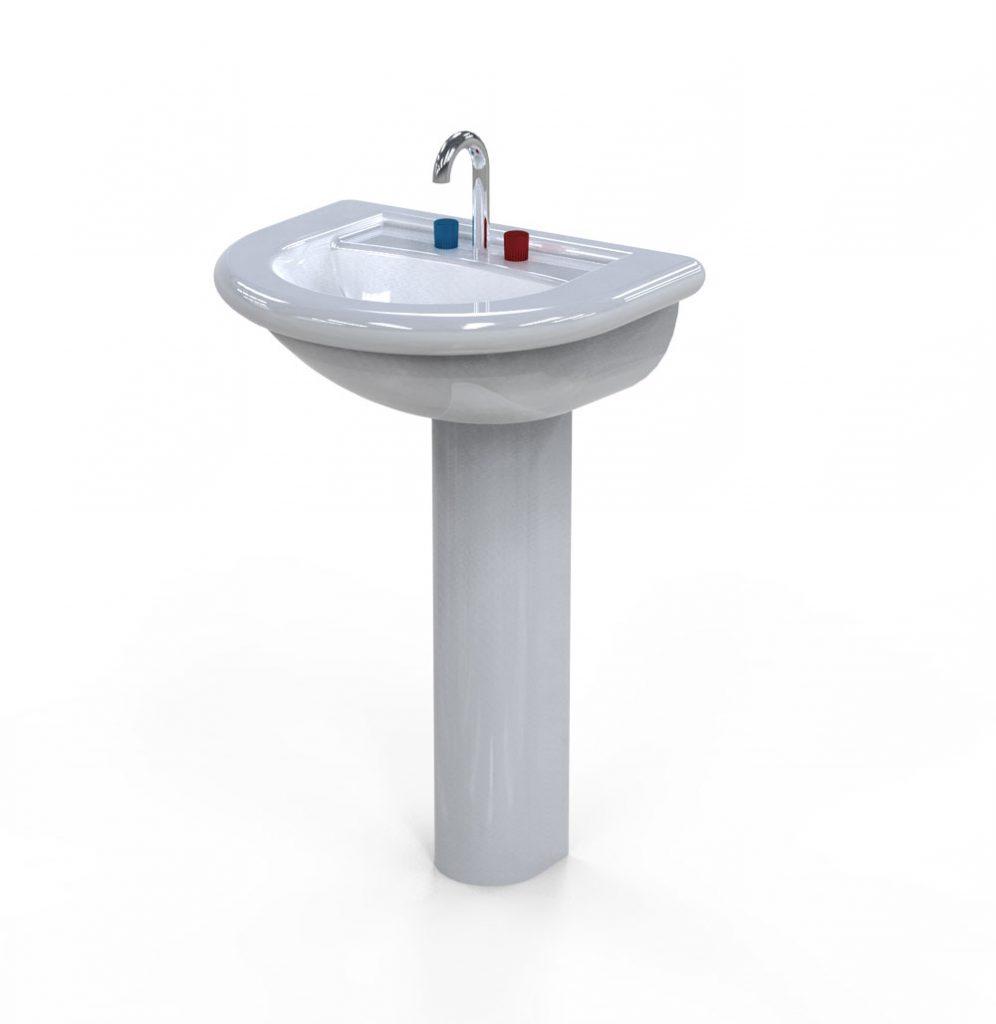 دانلود پروژه طراحی سینک روشویی دستشویی