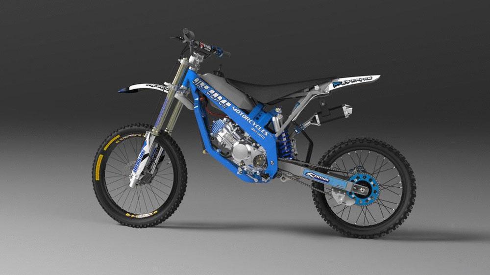 دانلود پروژه طراحی موتور سیکلت تریل DHX (1)