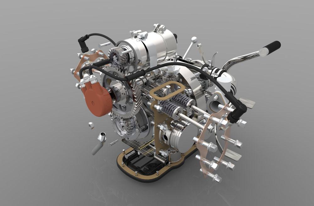 دانلود پروژه طراحی موتور ,گیربکس و هندل موتورسیکلت با جزییات کامل (1)