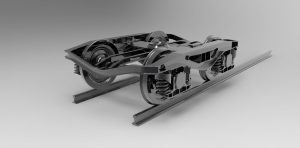دانلود پروژه طراحی هزار چرخ قطار (بوژی ، ارابه واگن) trolley railroad car