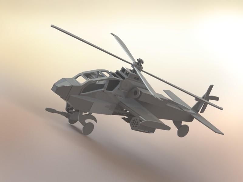 دانلود پروژه طراحی هلیکوپتر ایاچ-۶۴ آپاچی بوئینگ Apache Helicopter AH-64 (2)
