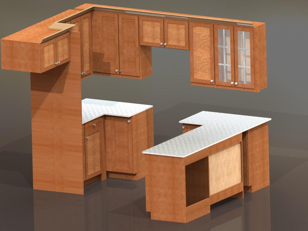 دانلود پروژه طراحی کابینت آشپزخانه