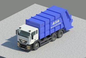 دانلود پروژه طراحی کامیون حمل زباله مان man