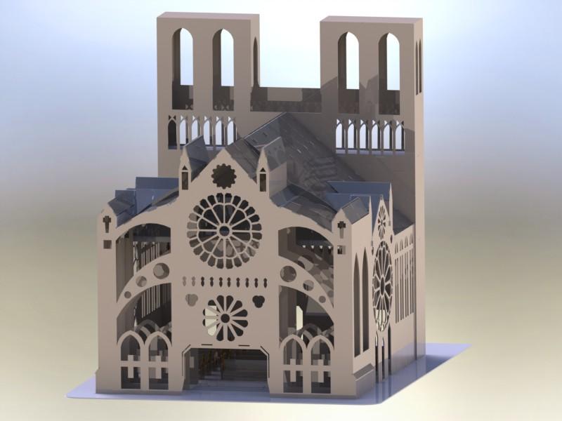 دانلود پروژه طراحی کلیسای نوتردام پازلی (1)