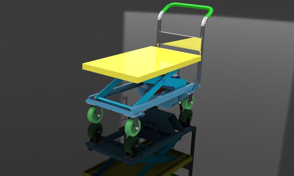 دانلود پروژه طراحی بالابر دستی هیدرولیکی قیچی (آكاردئونی)