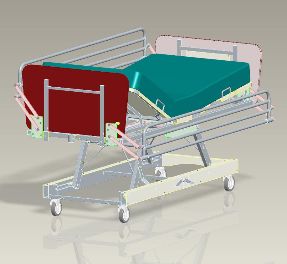 دانلود پروژه طراحی تخت بیمارستان
