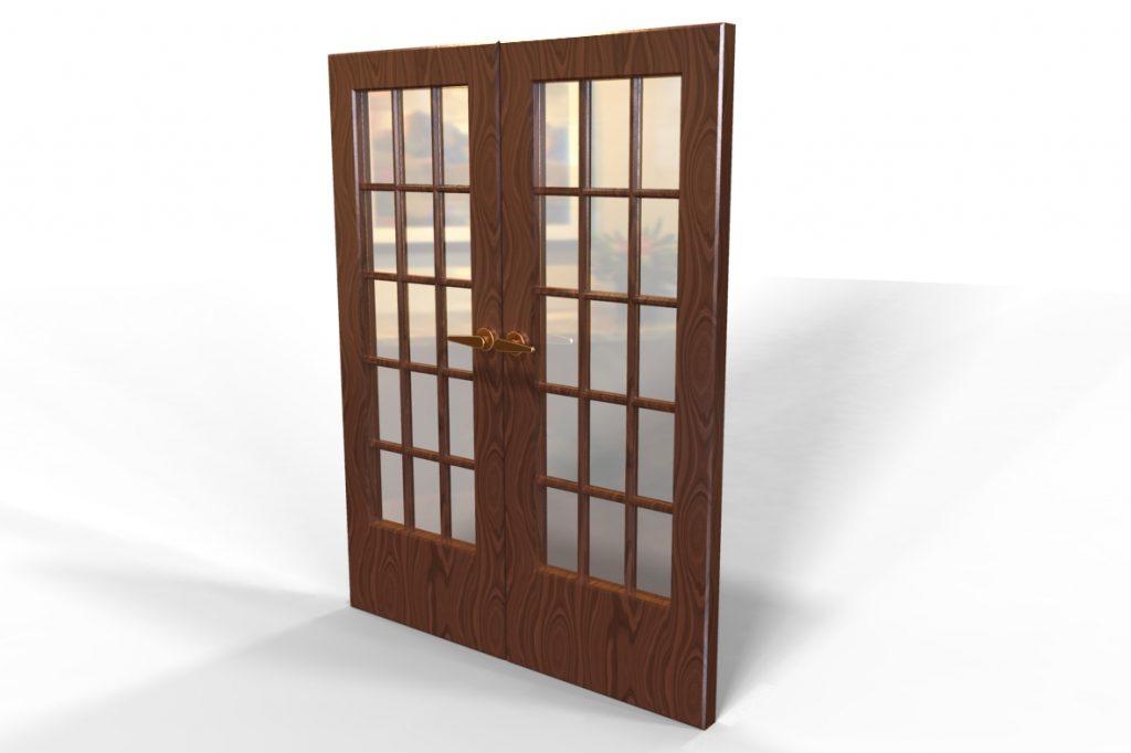 دانلود پروژه طراحی درب شیشه ای فرانسوی