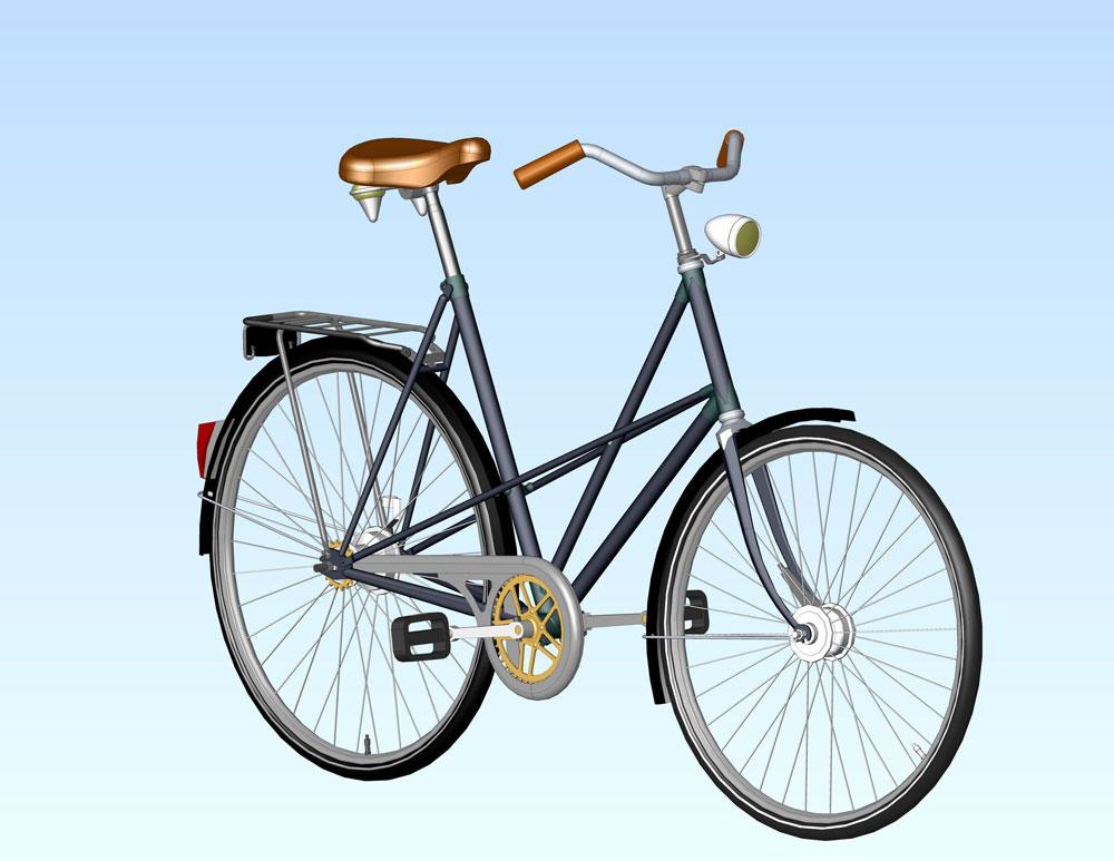 دانلود پروژه طراحی دوچرخه کلاسیک زنانه