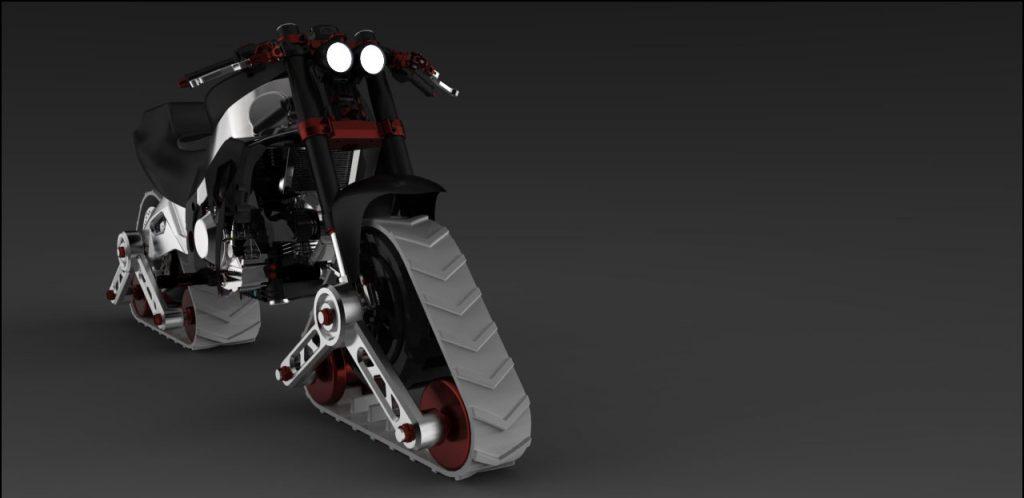 دانلود پروژه طراحی موتور سیکلت مفهومی اسنورایدر ( برف رو ) (1)