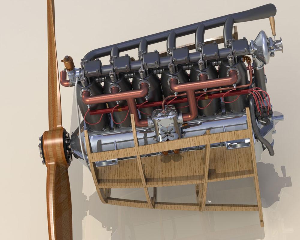 دانلود پروژه طراحی موتور هواپیما مرسدس (2)