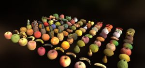 دانلود پروژه طراحی انواع میوه و سبزیجات لوپولی Lowpoly