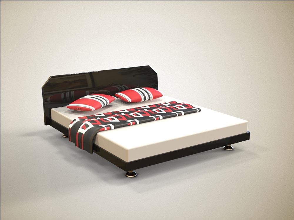 دانلود پروژه طراحی تخت خواب دونفره