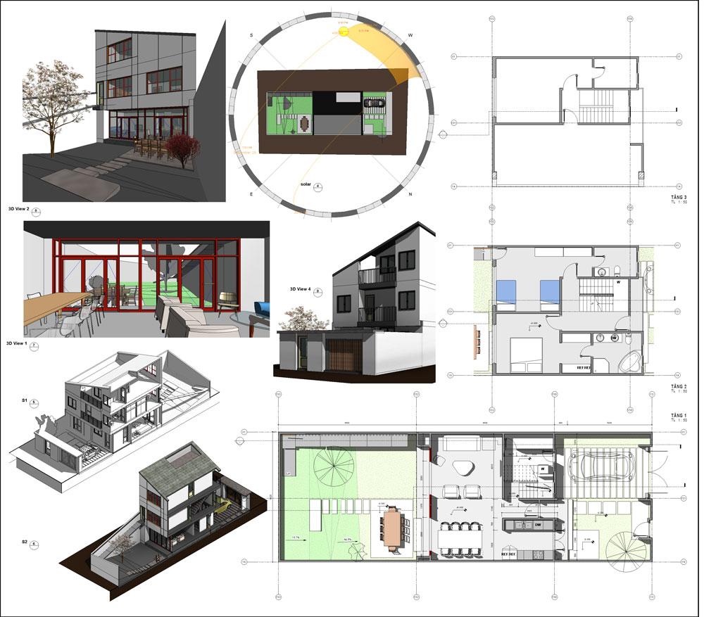 دانلود پروژه طراحی خانه ویلایی مدرن 8 در 30 متر + طراحی داخلی و خارجی (2)