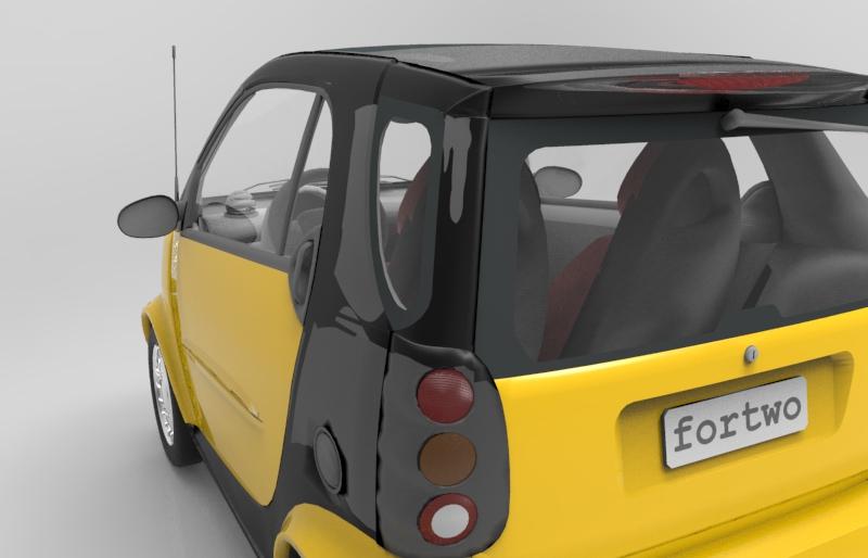 دانلود پروژه طراحی خودرو برقی اسمارت فورتو Smart Fortwo (1)