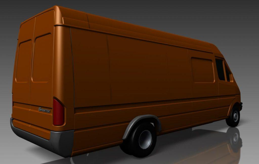 دانلود پروژه طراحی خودرو ون مرسدس بنز اسپرینتر (1)