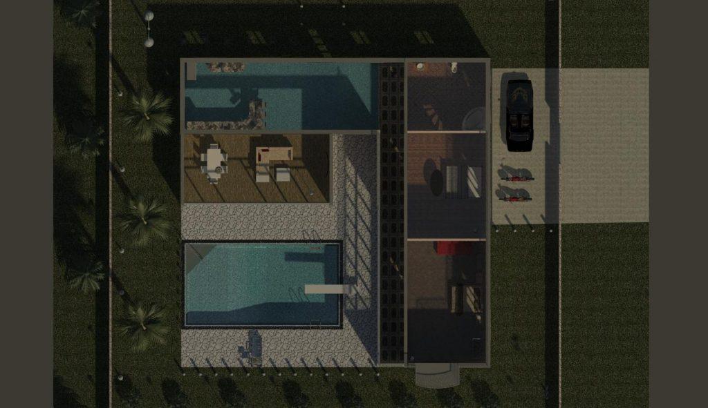 دانلود پروژه طراحی نقشه و پلان ویلای مدرن (8) + طراحی داخلی و خارجی