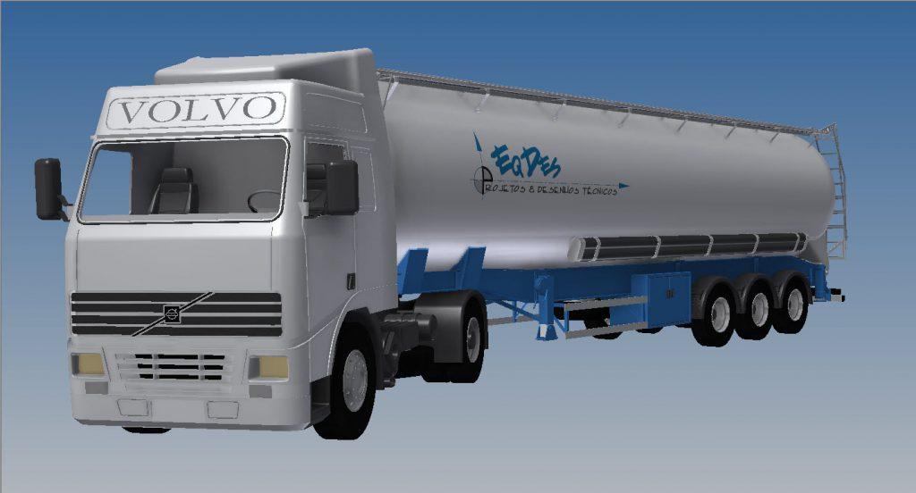 دانلود پروژه طراحی کامیون سیلو ( فله بر ) ولوو (2)