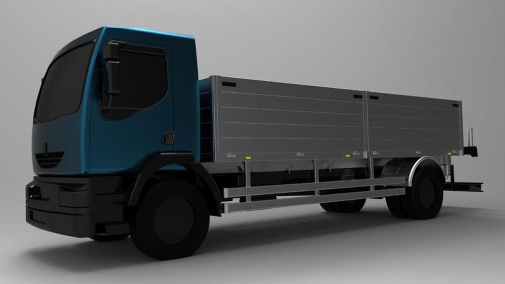 دانلود پروژه طراحی کامیون نیمه سنگین رنو