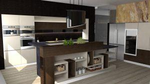 دانلود پروژه طراحی آشپزخانه مدرن + (کابینت ,یخچال ,قهوه ساز ,هود ,مایکروویو )