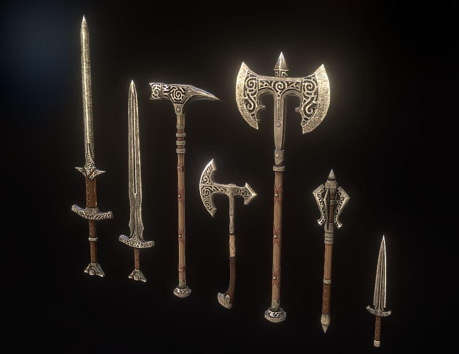 دانلود پروژه طراحی انواع سلاح باستانی