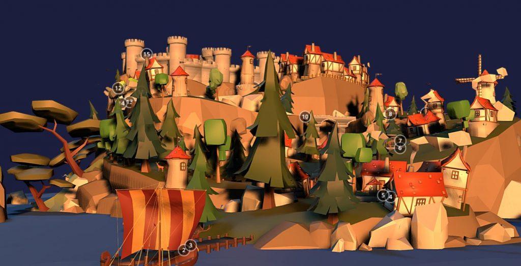 دانلود پروژه طراحی جزیره فانتزی باستانی+ (مردم ,سرباز,خانه , قلعه و ...) (3)