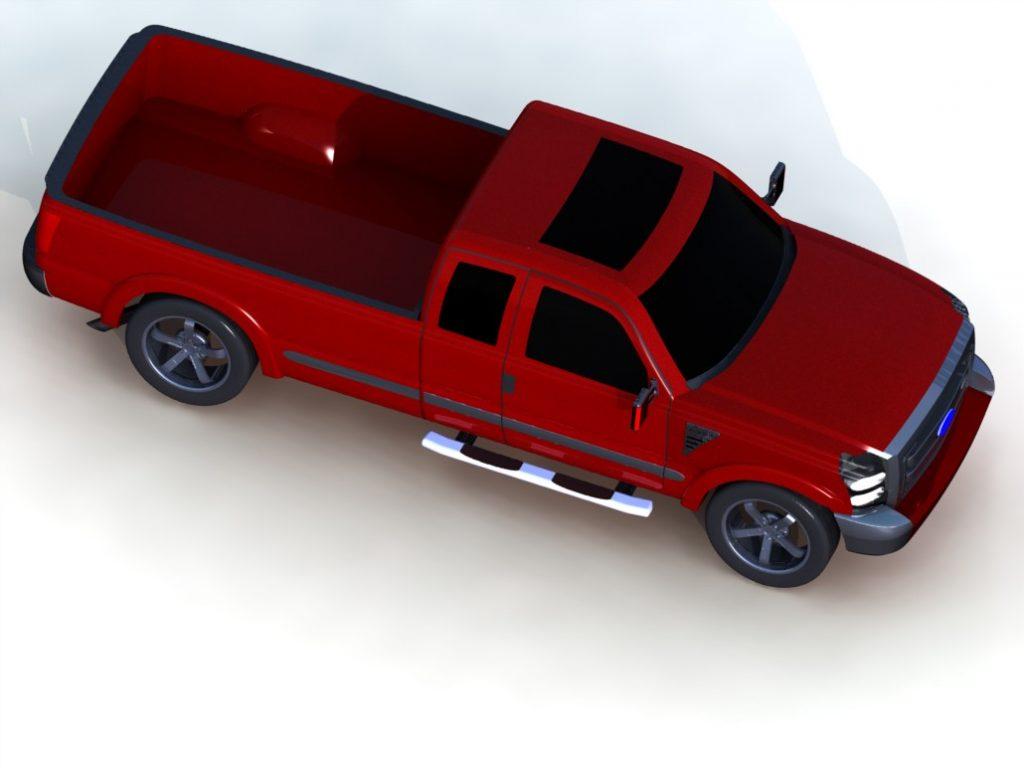 دانلود پروژه طراحی خودرو فورد سوپر دیوتی